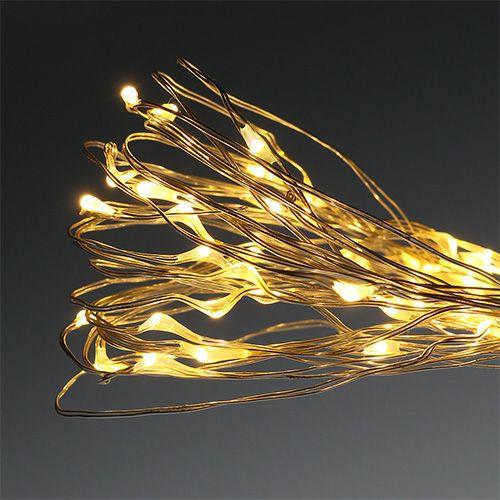 LED-lyskjede utvendig / innvendig 180 8,95m varm hvit