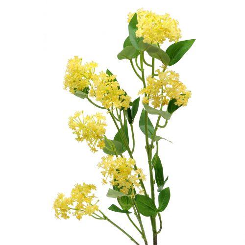 Grønn rose Lantana gren kunstig gul 80cm