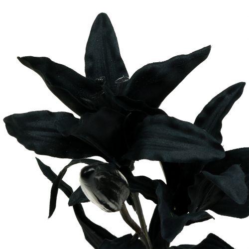 Kunstig blomsterlilje svart 84cm