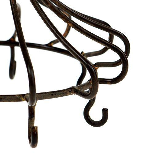 Metallkrone for hengende brun
