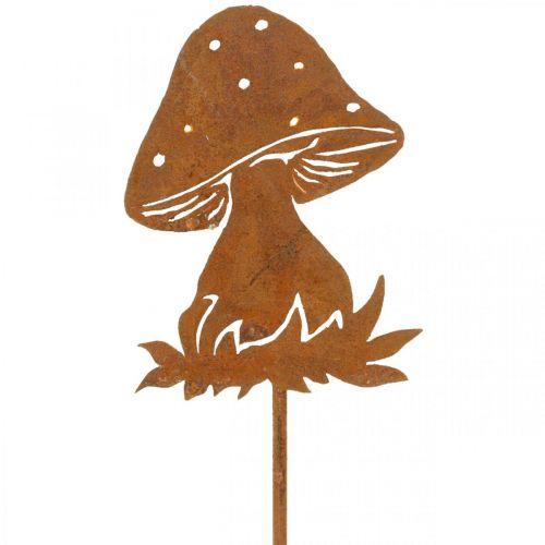 Hageplugg sopp rust fluesopp høstdekorasjon hage 47cm