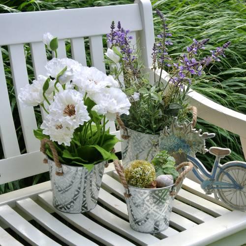 Valmue i en gryte hvite silke blomster blomsterdekorasjon