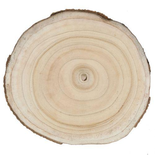 Terskive blå klokke treet natur Ø30-35cm 1p