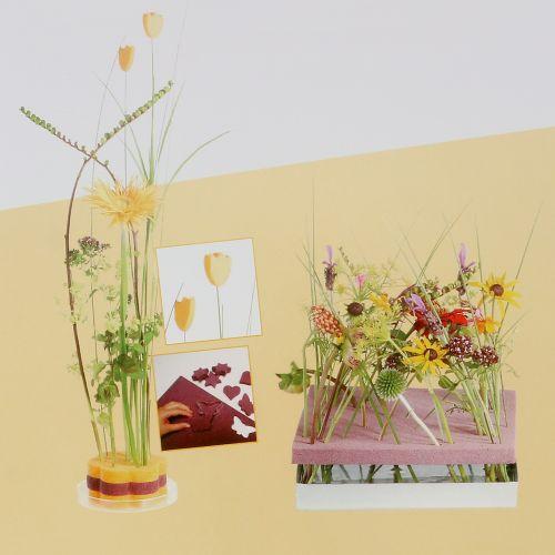 Floral skum designer paneler plug størrelse gammelrosa 34,5cm × 34,5cm 3stk