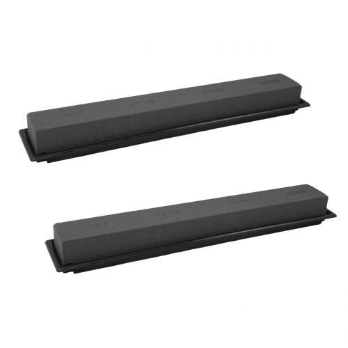 Pluggstørrelse borddekorasjonsplugg skum svart 48cm 4stk