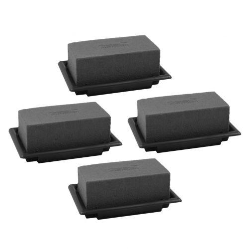 OASIS® Black Table Deco Mini Floral Foam Black 4stk
