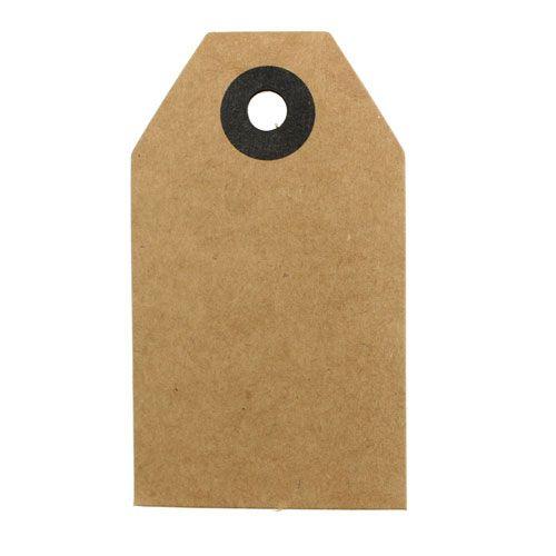 Manila etiketter brune 4,5cm x 8cm 80p