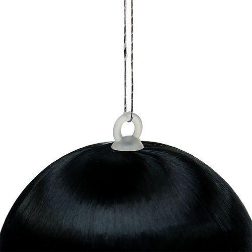 Plastkule svart Ø6cm 6stk