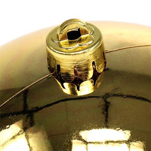 Plastkule gull liten Ø14cm 1p
