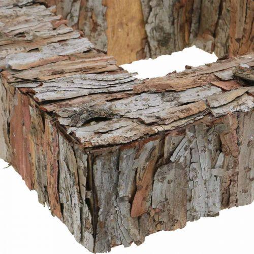 Deco trebark firkantet åpen furubark høstdekorasjon 30 × 30cm
