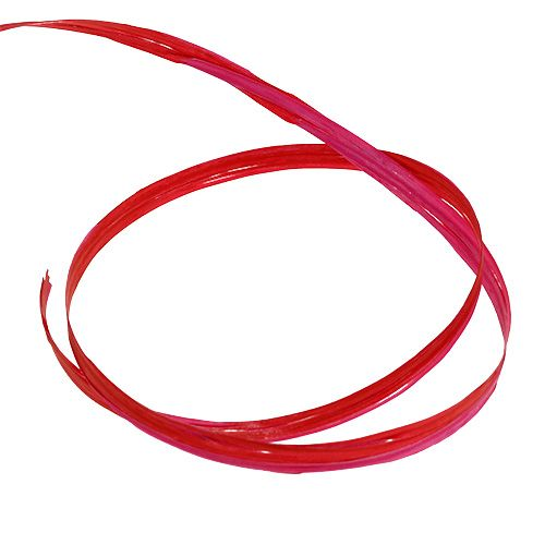 To-tone raffia rød-rosa 200m