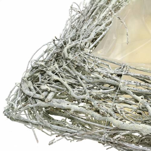 Plantepute grener hvitvasket 40cm x 40cm H10cm