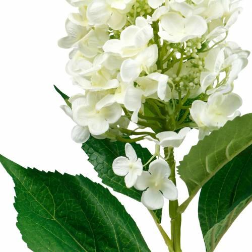 Panicle hortensia krem hvit, kunstig hortensia, silkeblomst 98cm