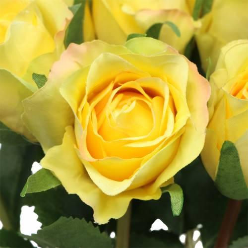 Rose gul 42cm 12stk