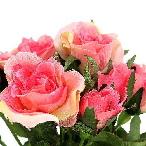Rosebukett i rosa L26cm 3stk
