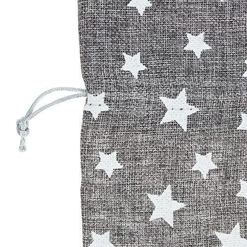 Veske med stjerner Ø23cm H35cm grå
