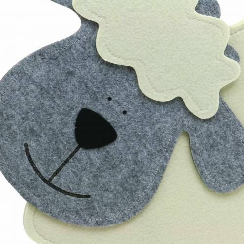 Sauestående filtkrem, grå 51 × 7cm H47cm