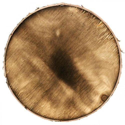 Dekorativ treskive flammet Rustikk tre dekorasjon kryssfiner Ø20cm
