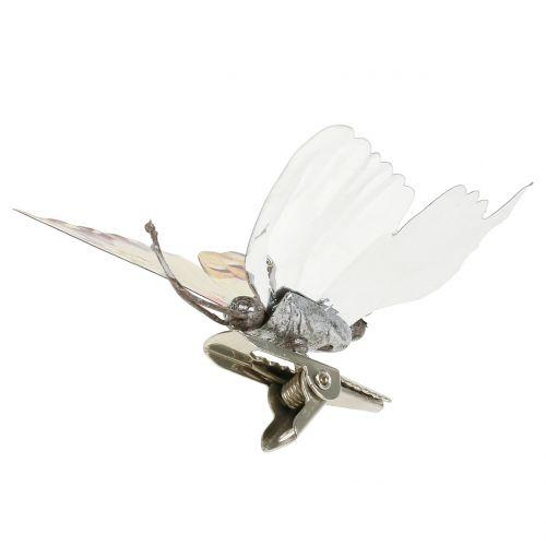 Butterfly gull skinnende på klips 12stk