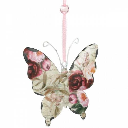 Sommerfugl å henge metall dekorasjon henger 9cm vår dekorasjon 6stk