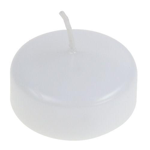 Flytende lys hvite 4,5cm 8stk