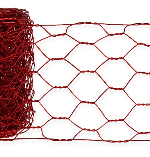 Sekskantet flette 50mm 5m rød