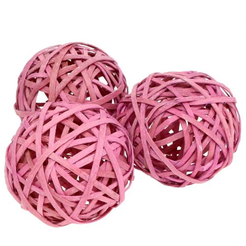 Chipball rosa Ø6cm 6stk