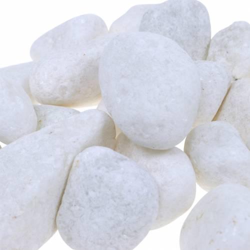 Elvestein naturlig hvit 3-5cm 1kg