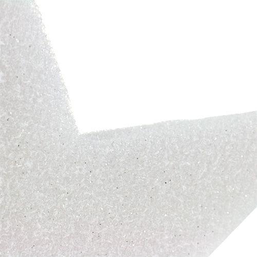 Stjerne å henge hvit 37cm L48cm 1p
