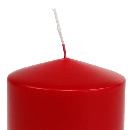 Stearinlys 100/100 rødt 4stk