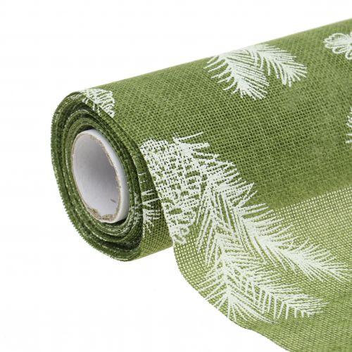 Bordbånd med gran mønster grønt 20cm 5m