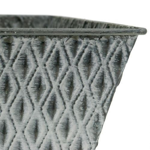 Sinkpotte med diamantmønster H11,5cm