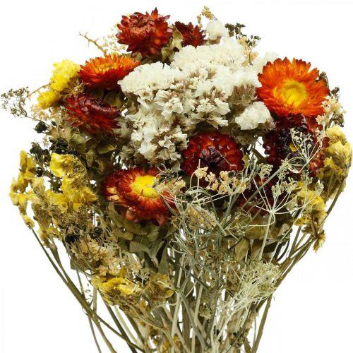 Tørket blomsterbukett Evigvarende blomster og sjølavendel 125g tørkede blomster