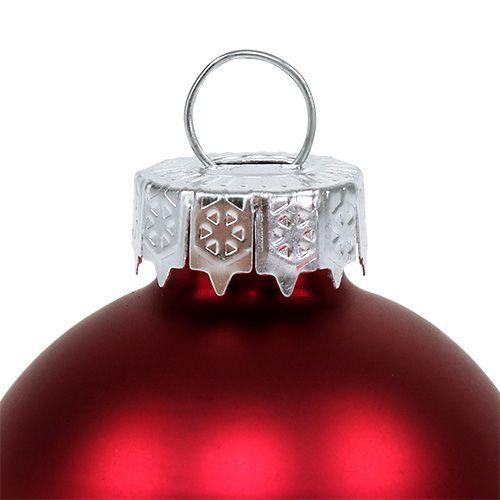 Julekule Ø4cm rødglans / matt 24stk