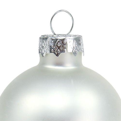 Julekule Ø4cm sølvglans / matt 24stk