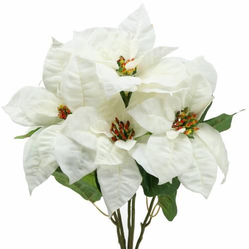 Julestjerner bukett hvit 52cm