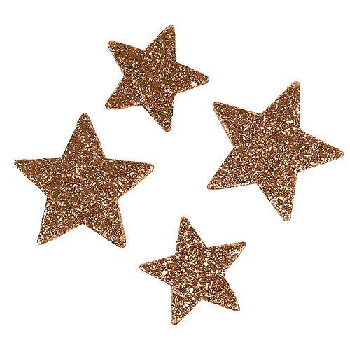 Julestjerner kobberglitterstjerner dryss dekorasjon 40stk