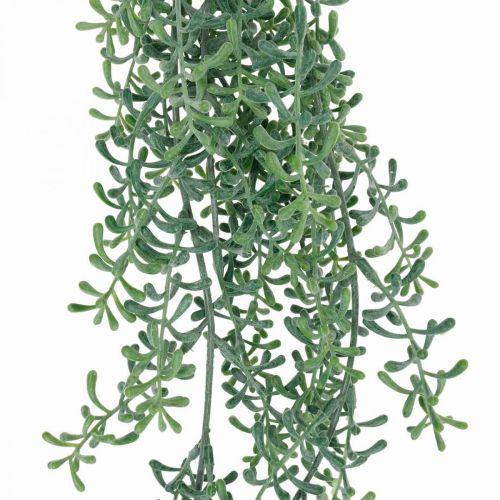 Grønn plante hengende kunstig hengende plante med knopper grønn, hvit 100cm