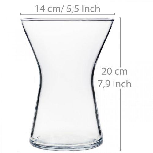X-glass vase klar Ø14cm H19cm