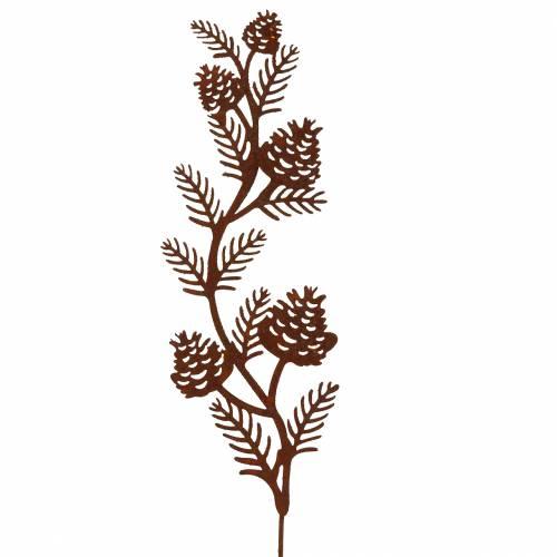 Hageplugg kjegle gren rustfritt stål H40 cm 4stk