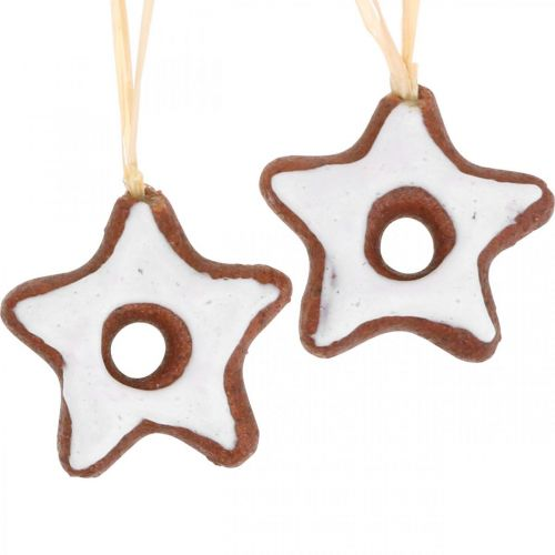 Juletrepynt pynt kanelstjerner dekorasjon stjerne plast 5cm 24stk