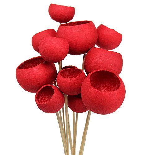 Bell Cup on a stick mix rød 15stk