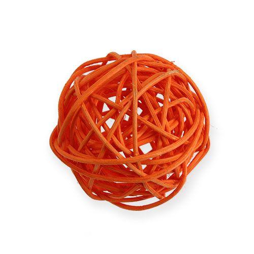 Rottingkuler Ø4,5cm oransje assortert 30stk